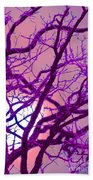 Moon Tree Pink Beach Towel by First Star Art
