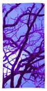 Moon Tree Purple Beach Towel