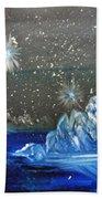Moon With A Blue Dress Beach Towel