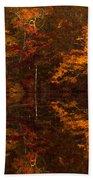 Moonlight Autumn Beach Towel