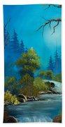 Moonlight Stream Beach Towel by C Steele