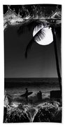 Moonlight Surf Beach Towel