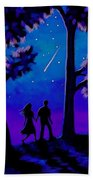 Moonlight Walk Beach Towel