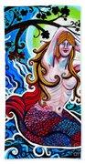 Moonlit Mermaid Beach Towel