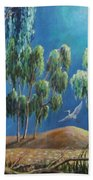 Moonlit Perch Beach Towel