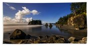 Moonlit Ruby Beach Towel
