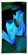 Moonlit Waterlilies Beach Towel