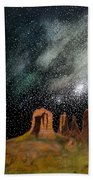 Moonrise Over Sedona Beach Towel
