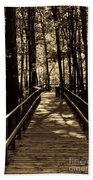 Moores Creek Battlefield  Nc Swam Bridge  Beach Towel