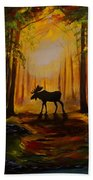 Moose Hideout Beach Towel