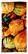 More Beautiful Gourds - Heralds Of Fall Beach Towel