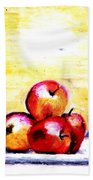 Morning Apples Beach Towel