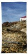 Morning At Beavertail Lighthouse Beach Towel