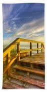 Morning Beach Walk Beach Towel by Debra and Dave Vanderlaan