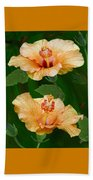 Morning Blooms - Hibiscus Beach Towel