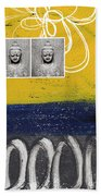 Morning Buddha Beach Towel by Linda Woods