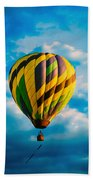 Morning Flight Hot Air Balloons Beach Towel