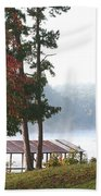 Morning Fog At Shangra-la Beach Towel