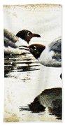 Morning Gulls - Seagull Art By Sharon Cummings Beach Towel by Sharon Cummings