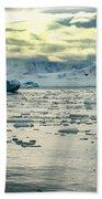 Morning Ice Flow Beach Towel