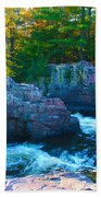 Morning In Eau Claire Dells Beach Towel