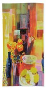 Morning In Paris Beach Towel by Martin Decent