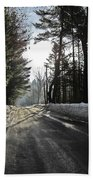 Morning Light On The Road Beach Towel