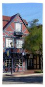 Morning On 2nd Street Solvang California Beach Towel