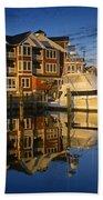 Morning On The Docks Beach Towel