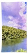 Morning On The Hanalei River Beach Towel