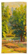 Morning Through The Trees Beach Towel