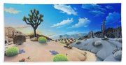 Joshua Tree Morning To Night Beach Towel