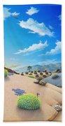 Joshua Tree Morning To Night Beach Towel