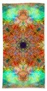 Moroccan Sun Mandala Beach Towel