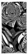 Moroccan Lights - Black And White Beach Towel