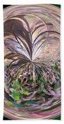 Morphed Art Globe 36 Beach Towel by Rhonda Barrett