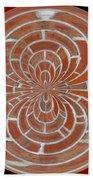 Morphed Art Globes 17 Beach Towel by Rhonda Barrett