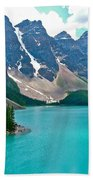 Morraine Lake In Banff Np-alberta Beach Towel