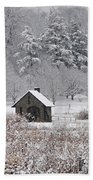 Morris Arboretum Mill In Winter Beach Towel