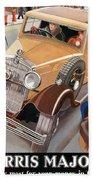 Morris Major 6 - Vintage Car Poster Beach Towel