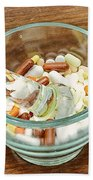 Mortar And Pestle With Drugs Beach Towel