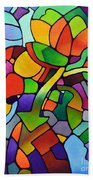 Mosaic Bouquet Beach Towel