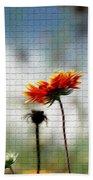 Mosaic Flower Beach Towel