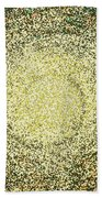 Mosaic Galaxy In Gold Beach Towel