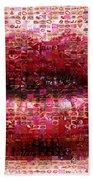 Mosaic Lips Beach Towel