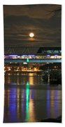 Moscow At Night In Winter Beach Towel
