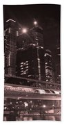 Moscow At Night Beach Towel