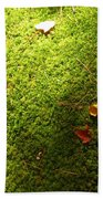 Moss And Leaves Beach Towel