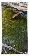Mossy Rock Beach Towel