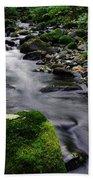Mossy Rock Streamside Beach Towel
